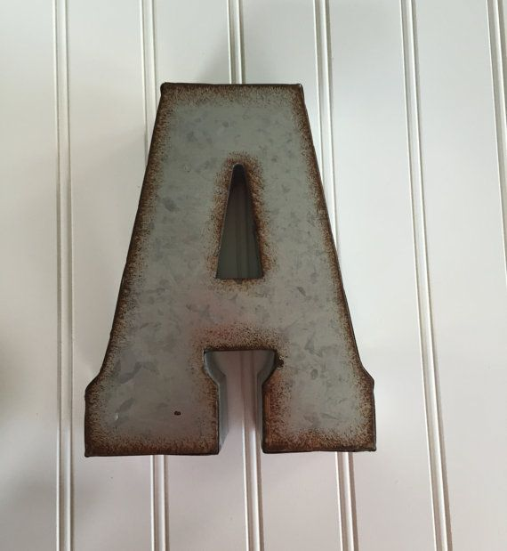 Decorative Metal Letter/ Wall Letter Sign / by CountryGirlMarket