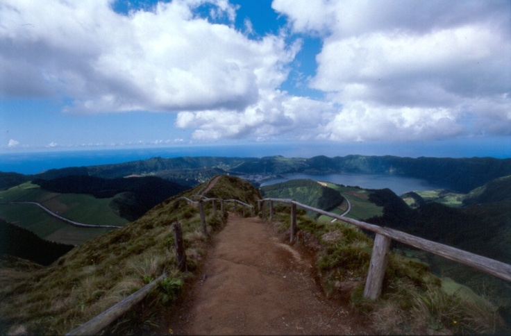 Walking in the #Azores - this path ends with a beautiful view