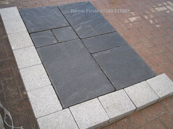 BLACK GRANITE EFFECT PAVING FLAGS, DRIVE SLABS, 60mm thick, ideal for drive