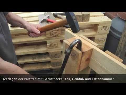 Recycling / Wiederaufbereitung Gebrauchter EUR Paletten Zu Einem  Gemütlichen Loungemöbelstück Im Garten. Viel Spass Auch Den Neidern Und  Frustrierten ...