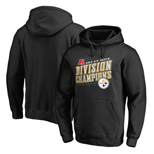 Pittsburgh Steelers Pro Line by Fanatics Branded 2016 AFC North Division Champions Inches Pullover Hoodie - Black - $48.99