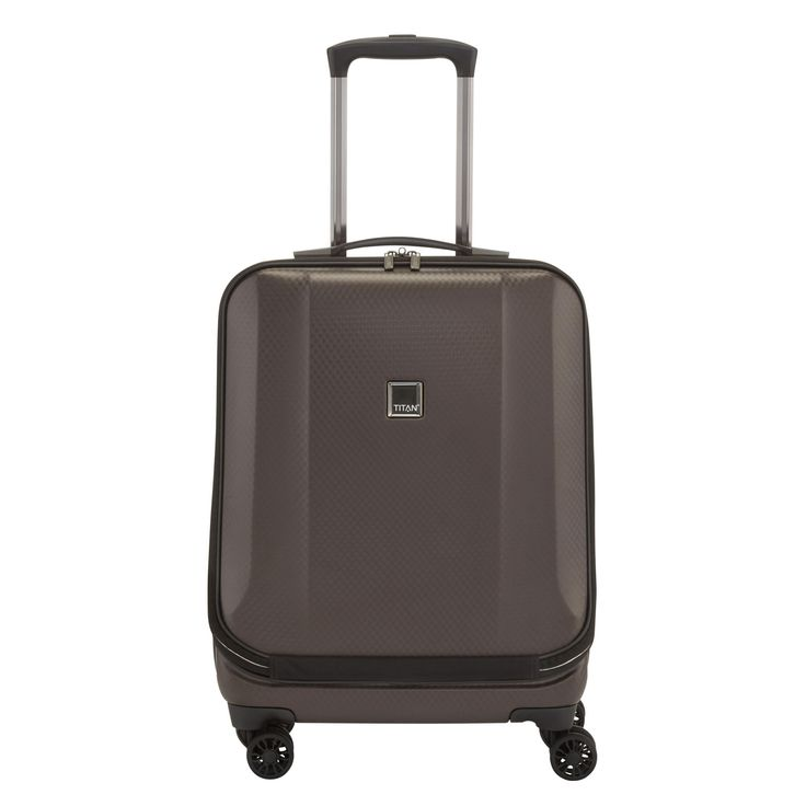 #Business-Trolley TITAN Xenon Deluxe bei Koffermarkt: ✓Frontfach mit Organizer  ✓4 Rollen ✓2,9 kg ✓55x40x22 cm ✓braun ⇒Jetzt kaufen