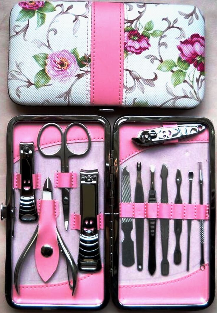 A Beautiful 12 pc Stainless Steel ManicurePedicure Set