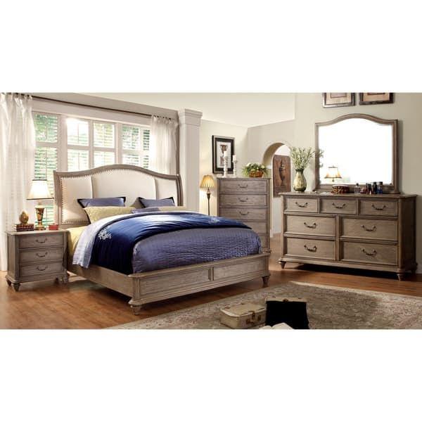 Furniture Of America Minka Ii Rustic Grey 4 Piece Bedroom Set Bedroom Sets Queen Bedroom Set King Bedroom Sets