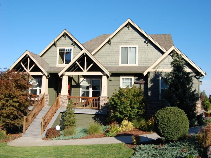 Craftsman style homes exterior paint