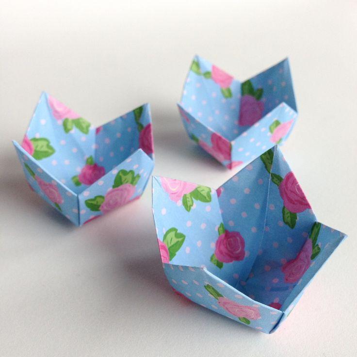 Forminhas para doces em origami ROSAS