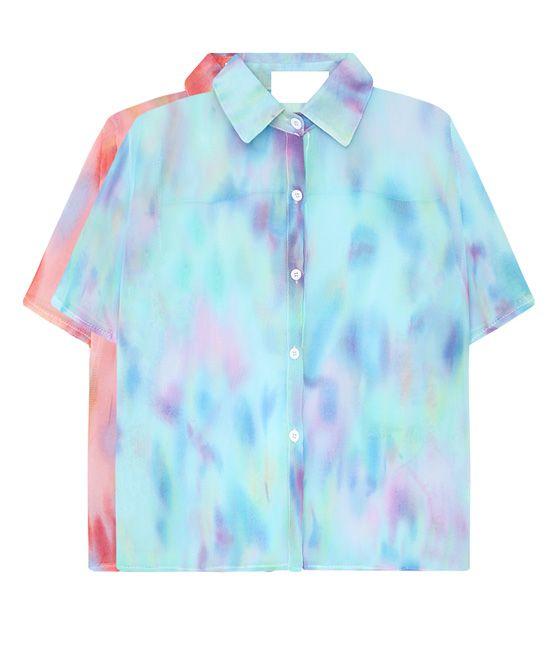 Tie-dye Chiffon Blouse