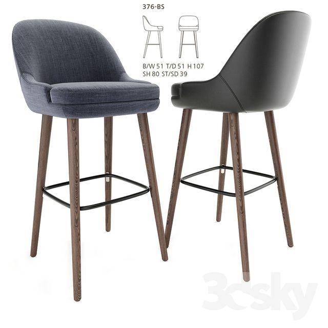 3d Models Chair 375 Walter Knoll Barstool Walter Knoll Bar
