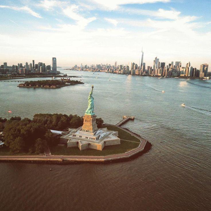Liberty Island by @mattj1683 #newyorkcityfeelings #nyc #newyork