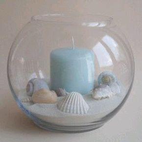 más y más manualidades: Crea hermosos centros de mesa marinos