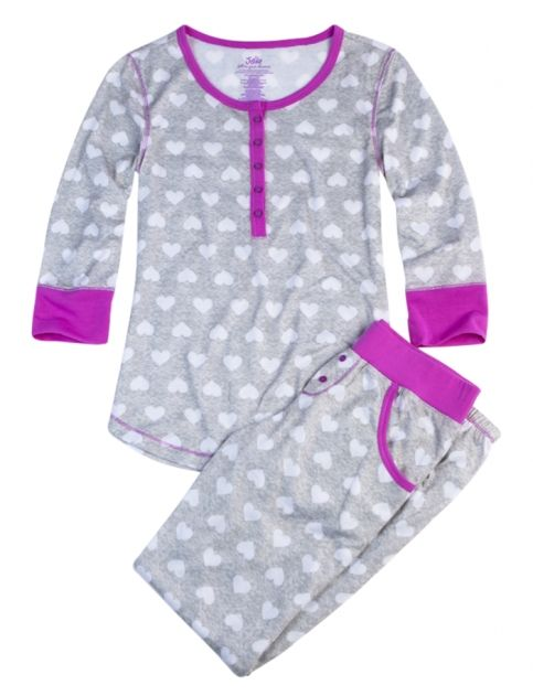 Heart 2 Piece Pajama Set | Girls Pajamas & Robes Pjs, Bras & Panties | Shop Justice