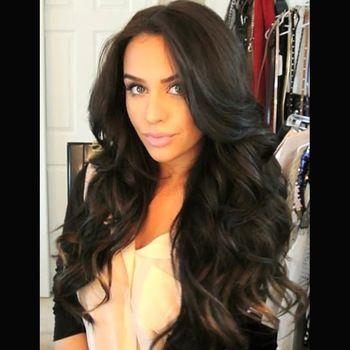 150% плотность натуральный черный цвет волнистые парик фронта шнурка / Glueless полный парик шнурка 100% девственных бразильские человеческие волосы парик в наличии