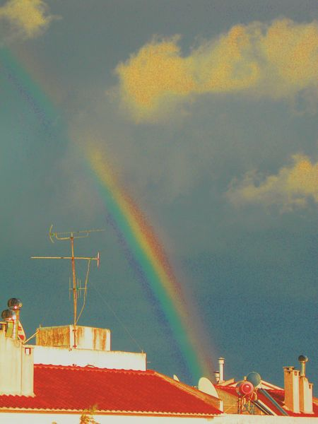 'Rainbow Over Your Block' by Petros Vasiadis on artflakes.com as poster or art print $16.63