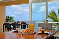seaside balcony dining