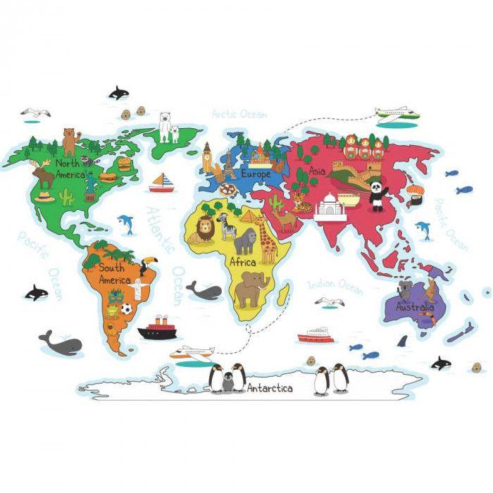 Aparador Verde Musgo ~ 25+ melhores ideias sobre Adesivo mapa mundi no Pinterest Mural do mapa mundi, Mapa múndi e