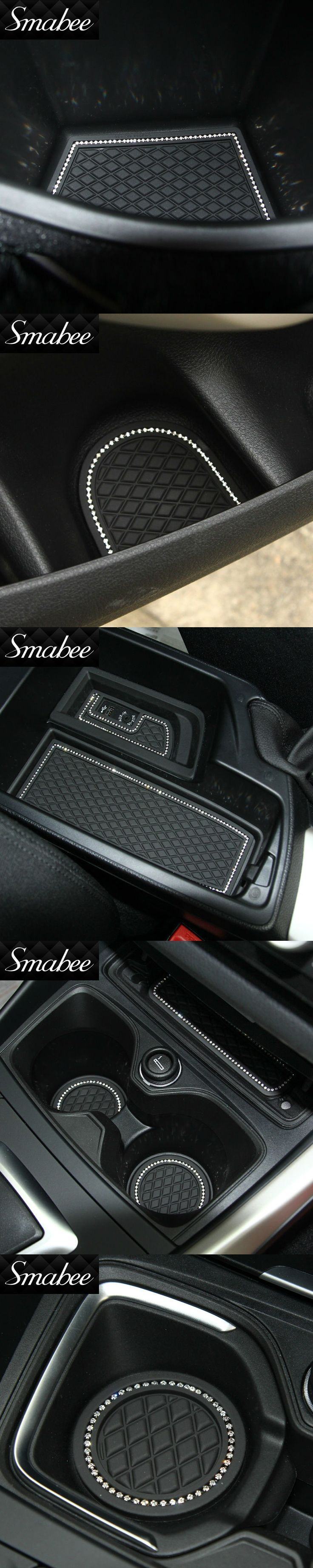 Smabee Door Groove Mat For 2012-2016 BMW 1 BMW118i 120i 125iM M135i Gate slot pad Automotive interior Anti-Slip Mat