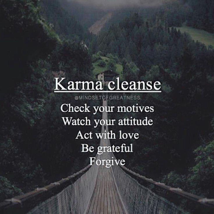 Karma Cleanse ༺❁༻