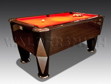 7ft Macassar English Pool Table - The Macassar has been engineered to perfection; a soundproofed Proactive cushion system provides the most consistent ball response possible during the game, and the playing area is bordered by smart chrome corner plates on the top frame. A strong build, smooth style and superb game-play all help cement the Macassar's status as a premier English pool table, and the one that's used for all major English pool tournaments in both the UK and Europe.