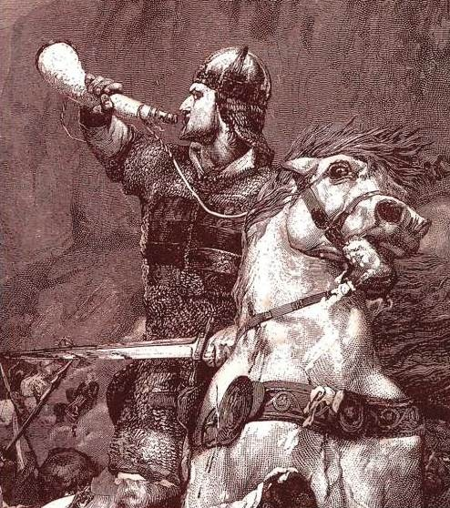 """""""Firmly he holds it and blows it with a will. High are the mountains, the blast is long and shrill, Thirty great leagues the sound went echoing..."""" - The Song of Roland"""