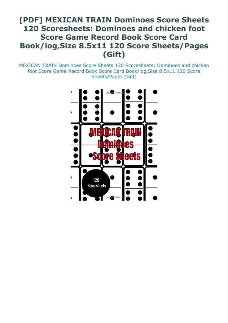 [PDF] MEXICAN TRAIN Dominoes Score Sheets 120 Scoresheets