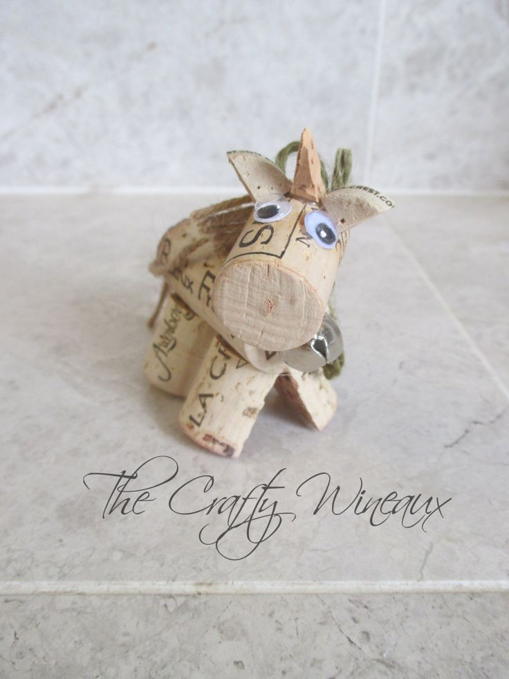Wine Cork Unicorn Ornament in Sage Green  - pinned by pin4etsy.com
