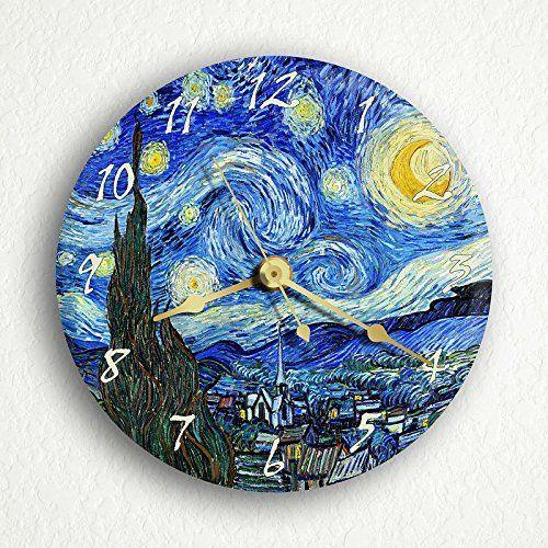 "The Starry Night Van Gogh 6"" Silent Wall Clock (Includes Desk/Table Stand), http://www.amazon.com/dp/B003M5FIWU/ref=cm_sw_r_pi_awdm_rHKOtb0DAVD91"