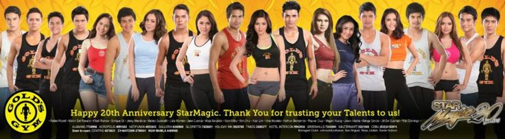 Here is the pretty Kathryn Bernardo and the other Star Magic talents endorsing proudly on Gold's Gym, where she goes to the gym to do physical fitness workouts with her fellow Kapamilya and Star Magic talents and their respective personal trainers. Kath and the Star Magic Talents still continue to stay fit and healthy, as she and the rest of the Star Magic Talents still continue to be famous from being talents in ABS-CBN and Star Magic. :-) #KathrynBernardo #TeenQueen #GoldsGymPH #StarMagic