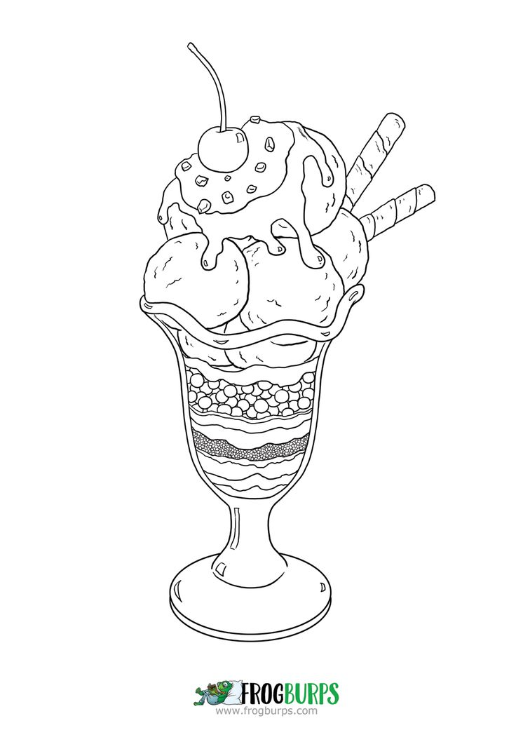 Ice Cream | Coloring Page