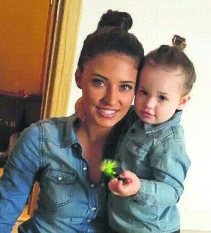Antonia with her cute daughter maya