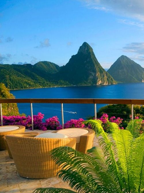"""♂ luxury hotel & resort travel JADE MOUNTAIN ST. LUCIA    ~""""The eyes are useless when the mind is blind"""""""