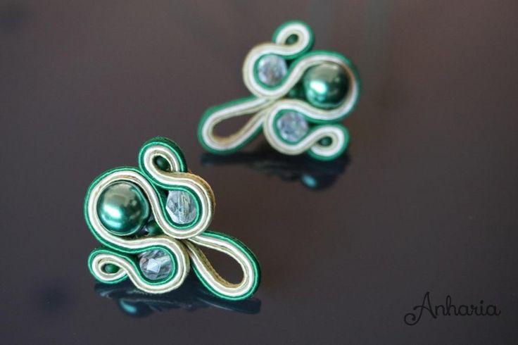 Ivy Evie. Elegant Soutache Handmade Earrings, match with the bracelet! http://etsy.me/1q1fRt1