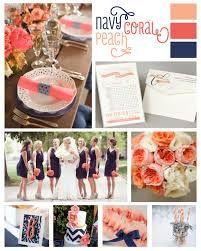 Decoration mariage corail et bleu