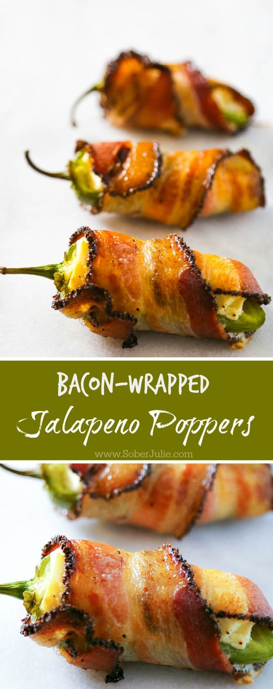 This bacon wrapped jalapeno popper recipe is so EASY and yet so delicious! If you're having guests over try this appetizer recipe..