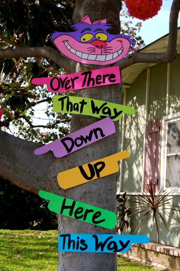 Alice In Wonderland Sign Posts Diy Party Decorations
