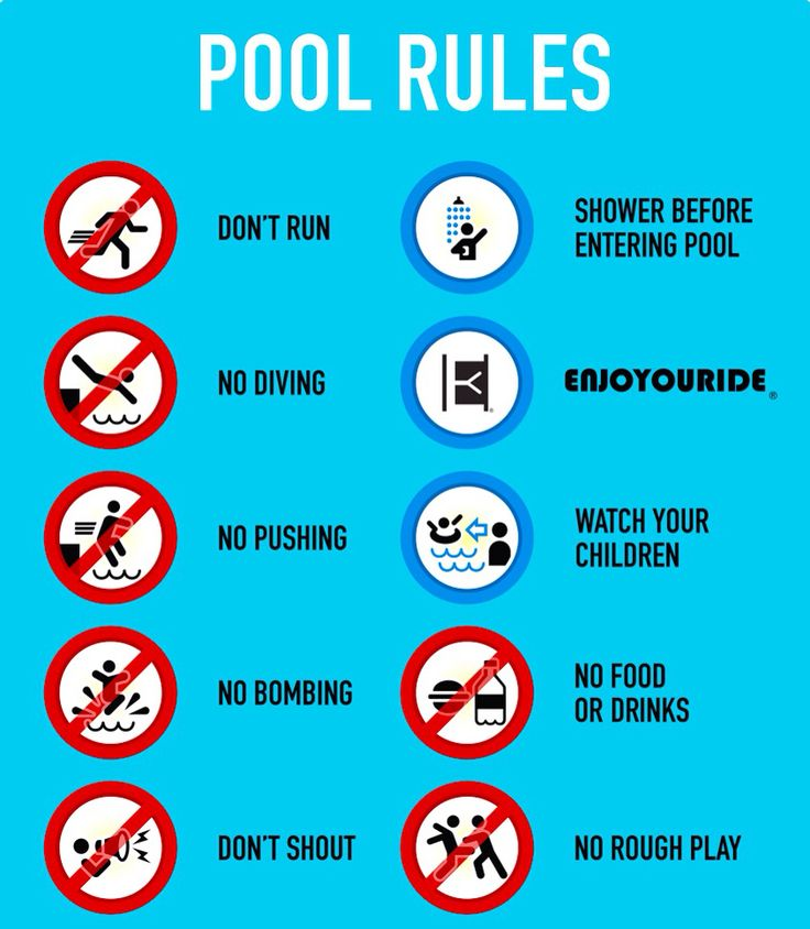"""Our swimming pool rules are """"No big deal."""" Life's a roller ..."""