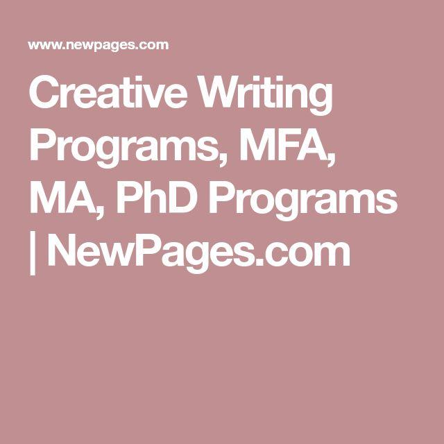 Phd writing programs