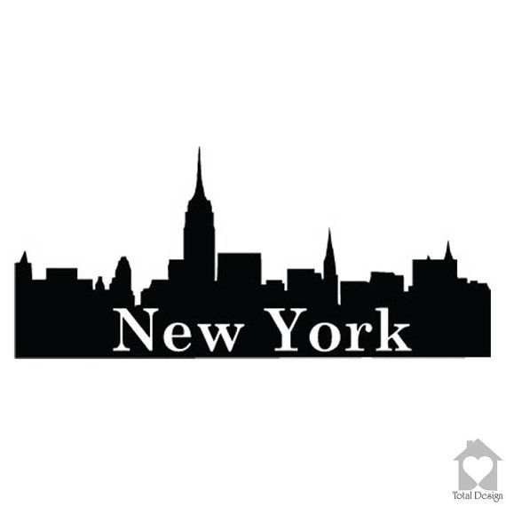 New York - Vinyl Wall Decal, Vinyl Wall Decor, Vinyl Decal, wall Decal, wall stickers, väggord, väggtext, väggdekor, Sisustustarra, 562_
