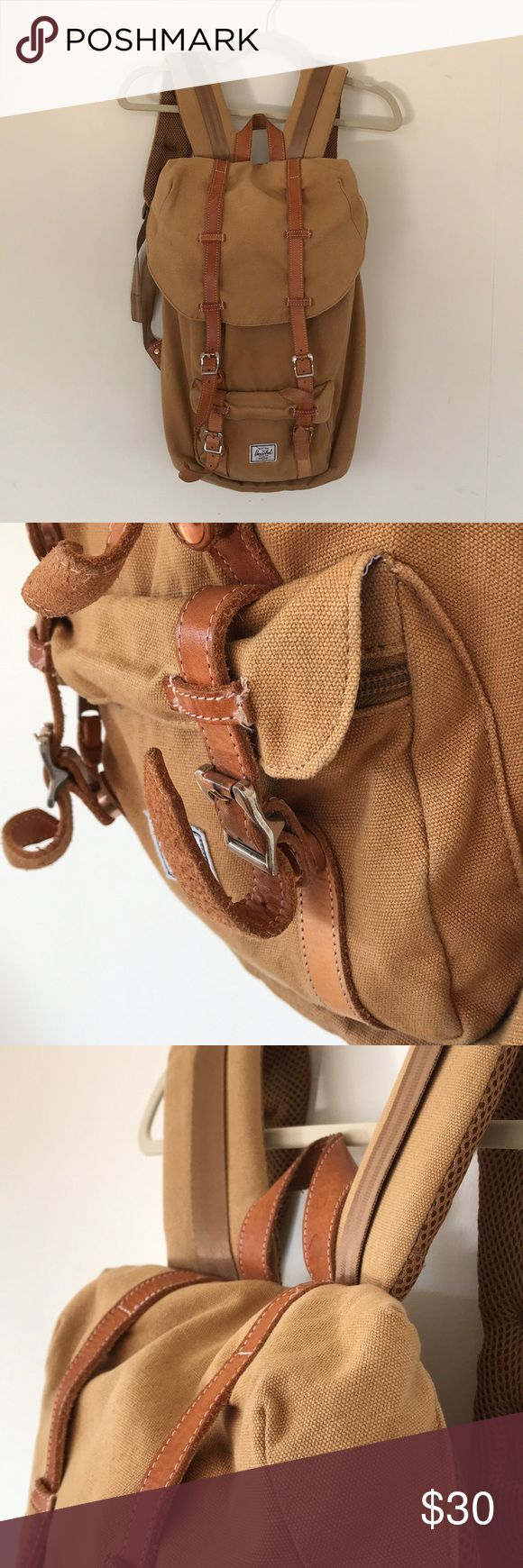 Hershel Camel Backpack Well loved and used backpack that needs a new home! Hershel Bags Backpacks