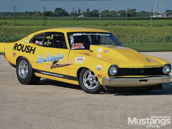 Don Bowles Sr. shows no signs of slowing down in his 1972 Ford Maverick race car despite turning 73 years young.  See it for yourself in the January 2013 issue of Modified Mustangs & Fords Magazine.