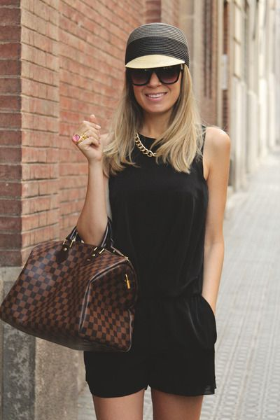 "Zara Jumpers, Parfois Hats, Speedy 35 Louis Vuitton Bags, Chanel Flats | ""Black Jumper"" by MyShowroom"