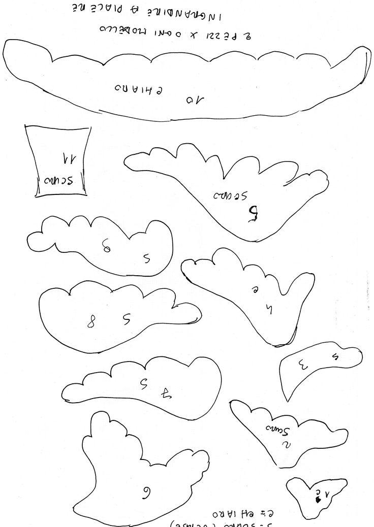 Risultati immagini per cartamodello albero natale imbottito