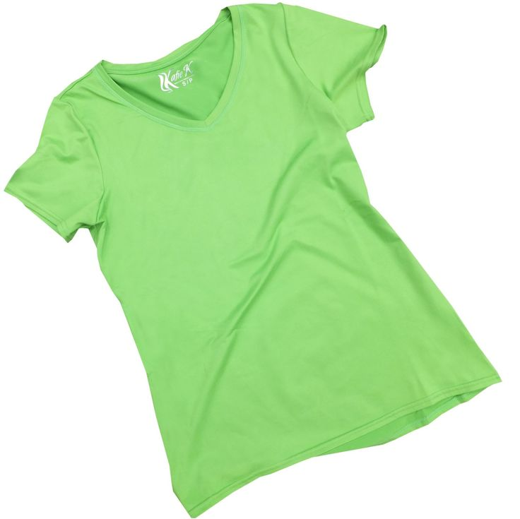 """Women's V-Neck T-Shirt 1X - also in Plus Sizes - from Katie K Active featured on Nbc's The Biggest Loser and Cosmopolitan. Featured on NBC's The Biggest Loser and Cosmopolitan! A great short sleeve top will always be one of the favorite items in your closet. The luxurious feel and expert fit of the Katie K Active Rushhour T-Shirt make this your """"go to"""" top for any activity!. Our V-Neck Tee has a relaxed tailored fit to flatter your shape. Designed with an eye toward comfort and…"""