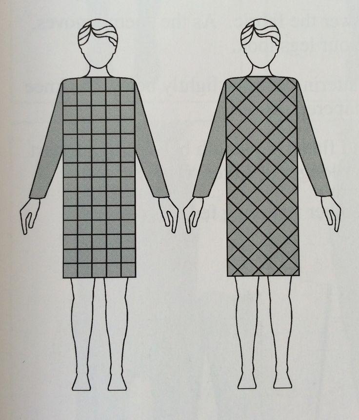 estampas/linhas com direção vertical-horizontal e diagonal