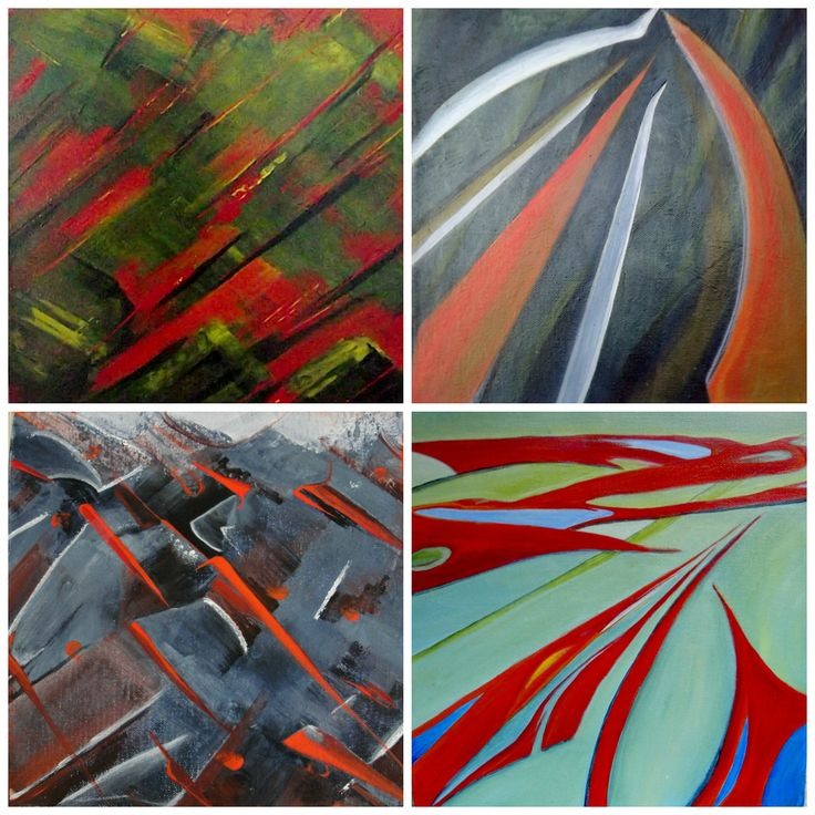 small paintings 10 x 10 - Abstract Affordable Art