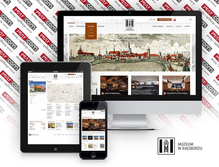 Responsywna strona internetowa dla Muzeum w Raciborzu. Marcom Interactve - Agencja Interaktywna Śląsk przedstawia, proponuje, zaprasza. www.e-marcom.pl .  #responsivewebdesign #rwd #