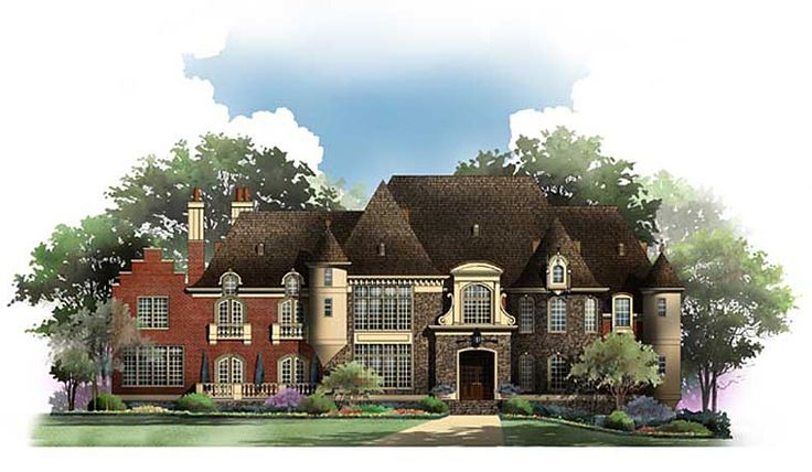 Another really good one!    House Plan 72232 | European Plan with 6780 Sq. Ft., 5 Bedrooms, 7 Bathrooms, 4 Car Garage