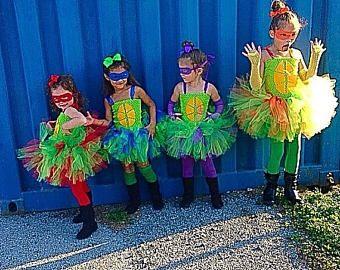 PRE HALLOWEEN SALE Turtle tutu, Turtle Costume, Orange Turtle tutu, Purple Turtle Tutu, Blue Turtle tutu, Red Turtle Tutu, Ninja Turtle Tutu