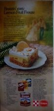 1977 Chex Cereal Eagle Brand Milk Lemon Freeze Pie