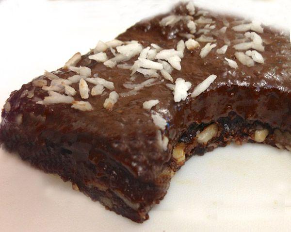 Fudge σοκολάτας με μπανάνα και ξηρούς καρπούς