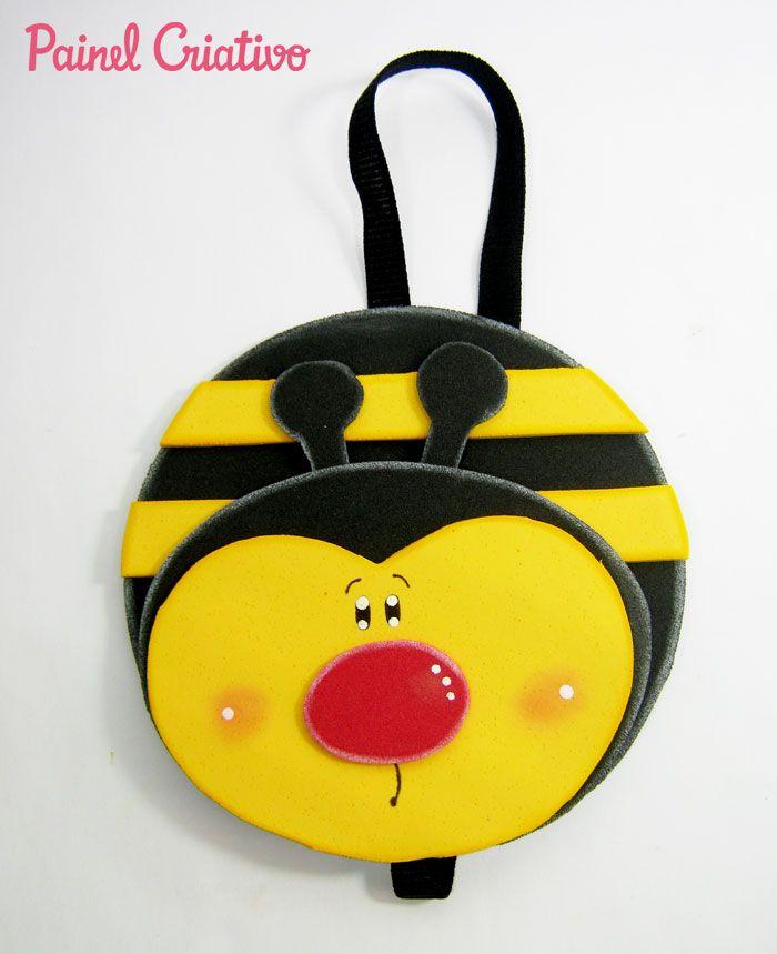 como fazer marcador pagina joaninha abelhinha lembrancinha eva cd velho reciclagem (5)